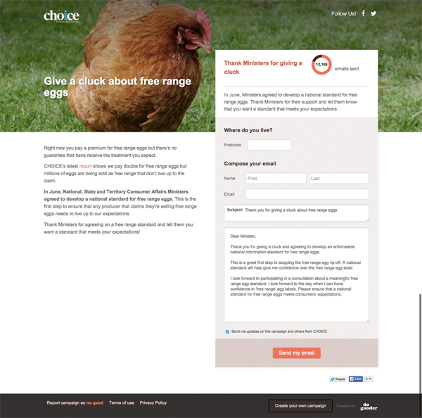 Give a cluck about free range eggs